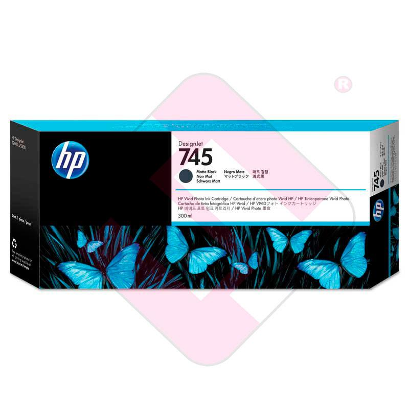 HP CARTUCHO TINTA NEGRO MATE 300ML 745 Z2600/Z5600
