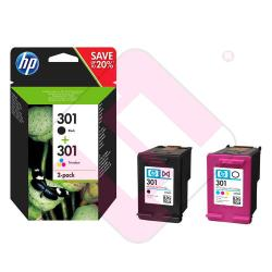 CARTUCHO INYECCION TINTA NEGRO Y COLOR 301 PACK 2