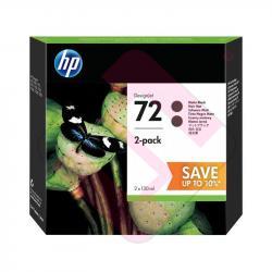 HEWLETT PACKARD HP72 BLACK PACK DOBLE DESIGNJET T1100/1200/