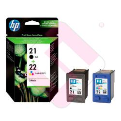 HEWLETT PACKARD CARTUCHO INYECCION TINTA NEGRO/TRICOLOR 21/2
