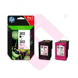 HEWLETT PACKARD COM PACK 302 NEGRO Y TRICOLOR