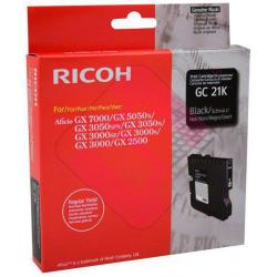 RICOH CARTUCHO INYECCION TINTA NEGRO TYPE GC-21K 1.500 P GIN