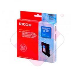 RICOH CARTUCHO INYECCION TINTA CIAN TYPE GC-21C 1.000 P GINA
