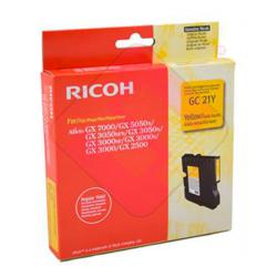 RICOH CARTUCHO INYECCION TINTA AMARILLO TYPE GC-21Y 1.000 P