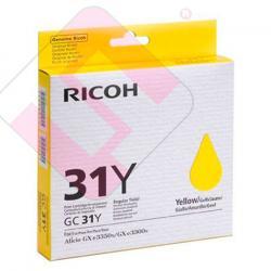 RICOH CARTUCHO INYECCION TINTA AMARILLO TYPE GC31YLW GX/3300