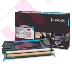 LEXMARK TONER LASER CIAN 10.000 PGINAS RETORNABLE C/748DE/7