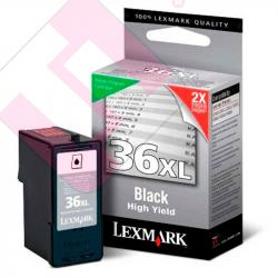 LEXMARK CARTUCHO INYECCION TINTA NEGRO N36XL 500 PGINAS RE