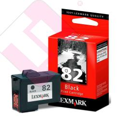LEXMARK CARTUCHO INYECCION TINTA NEGRO N82 600 P GINAS COLO