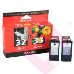 LEXMARK CARTUCHO INYECCION TINTA TRICOLOR 33+32PLU 3CL 32/33