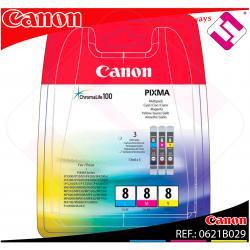 CANON CARTUCHO INYECCION TINTA TRICOLOR CLI-8 C/M/Y PACK 3 B