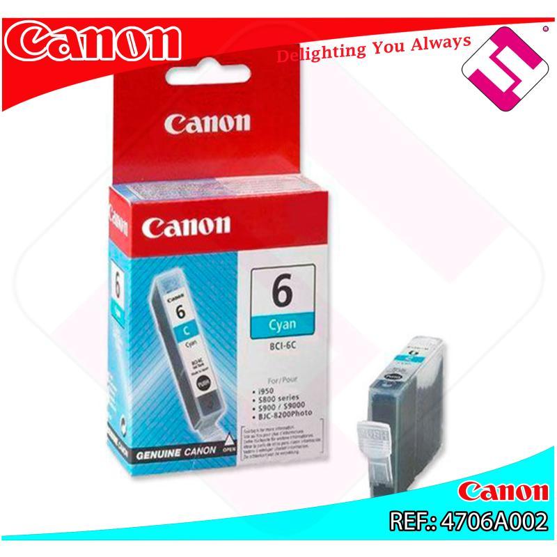 CANON CARGA INYECCION TINTA CIAN BCI-6C 13ML S-/800/820/820D