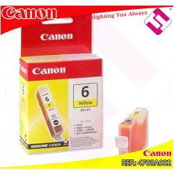 CANON CARGA INYECCION TINTA AMARILLO BCI-6Y 13ML S-/800/820/