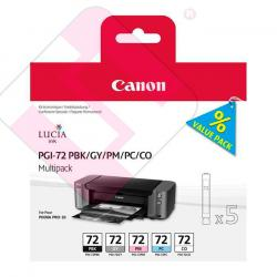 CANON CARTUCHO INYECCION TINTA COLORES PGI-72PBK/GY/PM/PC/CO