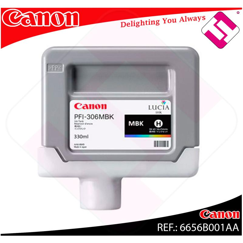 CANON CARTUCHO INYECCION TINTA NEGRO MATE PFI-306 330ML IPF/