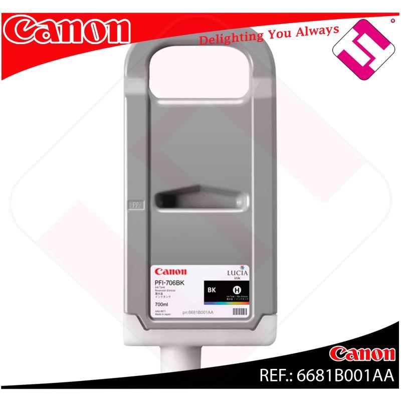 CANON CARTUCHO INYECCION TINTA NEGRO PFI-706 700ML IPF/8300/
