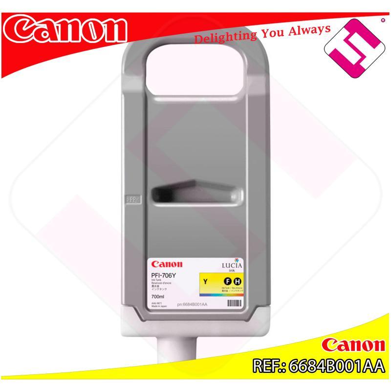 CANON CARTUCHO INYECCION TINTA AMARILLO PFI-706 700ML IPF/83