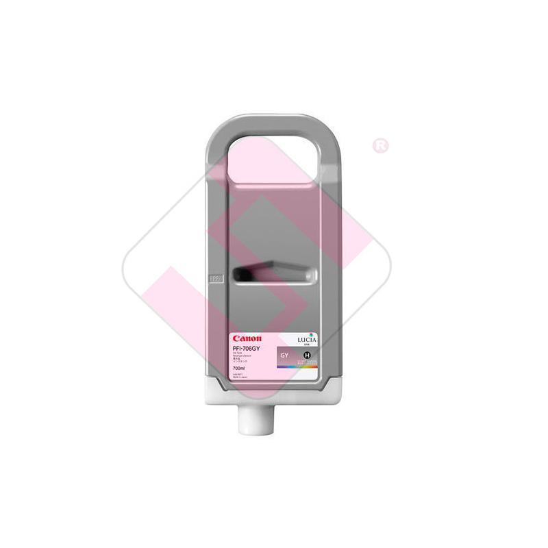 CANON CARTUCHO INYECCION TINTA GRIS PFI-706 700ML IPF/8300/6
