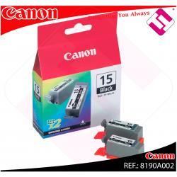 CANON CARGA INYECCION TINTA NEGRO BCI-15BK PACK 2 I/70/80 IP