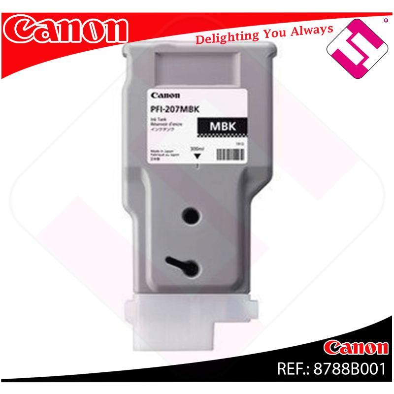 CANON CARTUCHO NEGRO MATE IPF685/780/785 300ML PFI207MBK