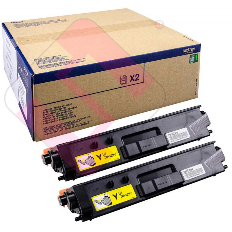 BROTHER TONER AMARILLO HLL8350.MFCL8850 6000PAGINAS DUO PACK
