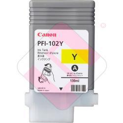 CANON CARTUCHO INYECCION TINTA AMARILLO PFI-102Y 130ML LP/17