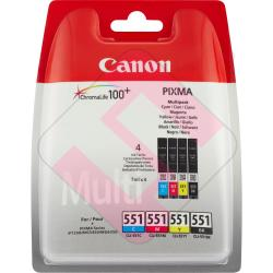 CANON CARTUCHO INYECCION TINTA COLOR CLI-551C/M/Y/BK 7ML PAC