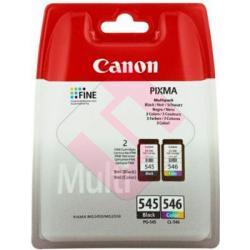 CANON CARTUCHO TINTA PACK PG545XL/CL546XL 50HOJAS 10X15
