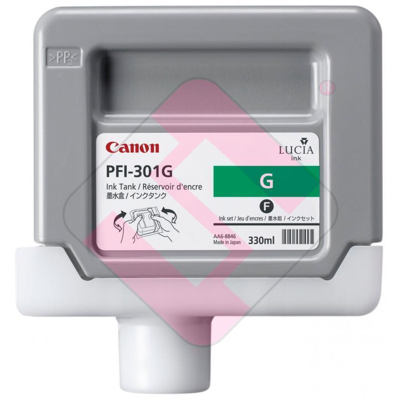 CANON CARTUCHO INYECCION TINTA VERDE PFI301G 330ML IPF/8000/