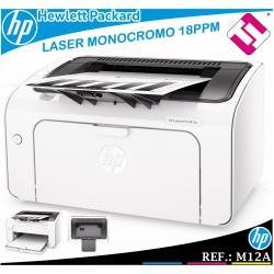 IMPRESORA HP MONOCROMO LASER LASERJET PRO M12A 18PPM USB BLANCO Y NEGRO T0L45A