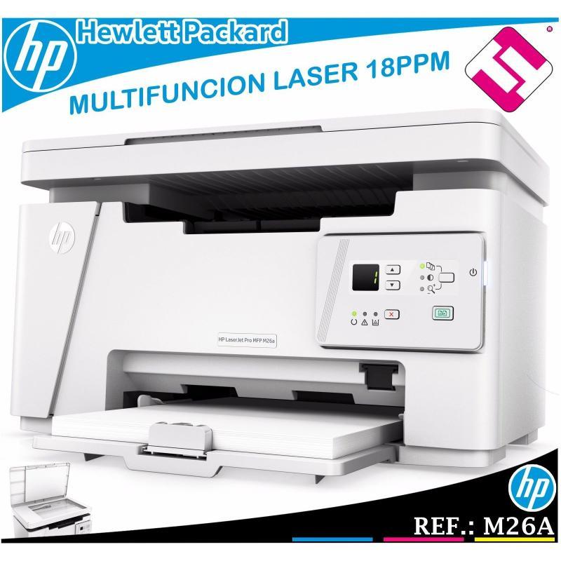 MULTIFUNCION HP MONOCROMO LASERJET PRO M26A 18PPM USB BLANCO Y NEGRO T0L45A 600X
