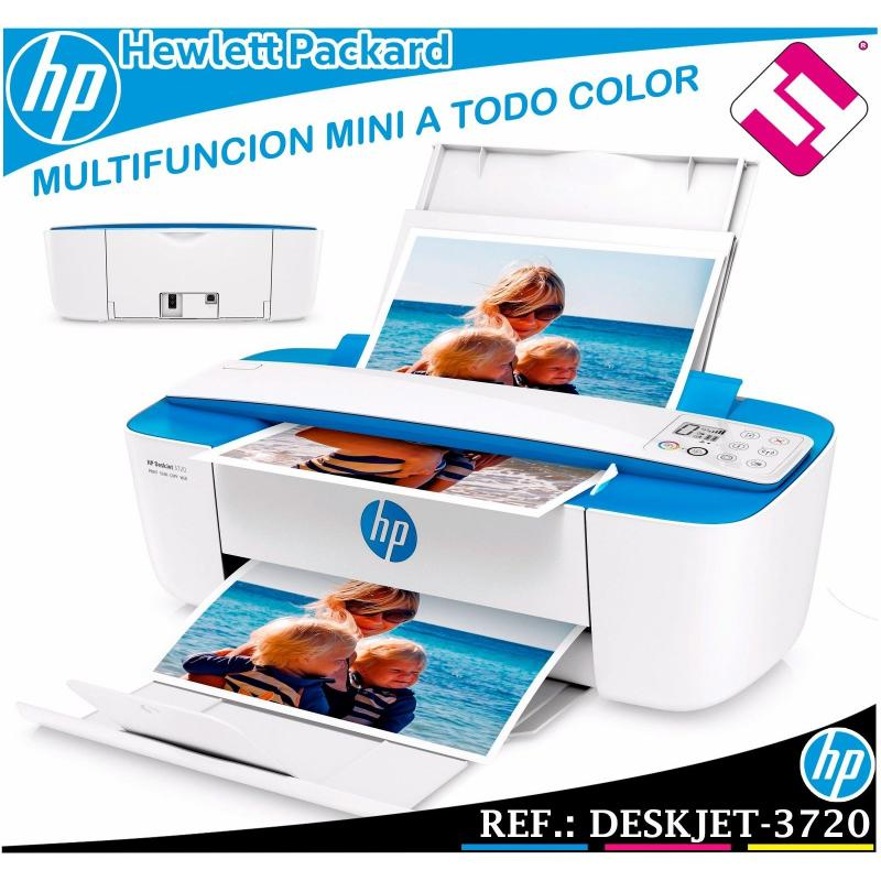 MULTIFUNCION HP A COLOR INYECCION DESKJET 3720 IMPRESORA A4 8PPM USB WIFI 1200X