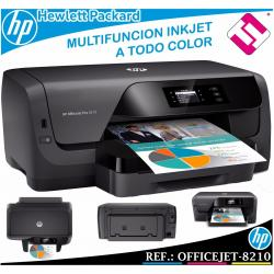 IMPRESORA HP OFFICEJET PRO 8210 INYECCION A COLOR A4 A5 A6 18PPM USB WIFI DUPLEX
