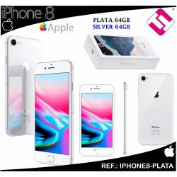 TELEFONO MOVIL SMARTPHONE APPLE IPHONE 8 LIBRE PLATA SILVER 64GB 4,7 PULGADAS