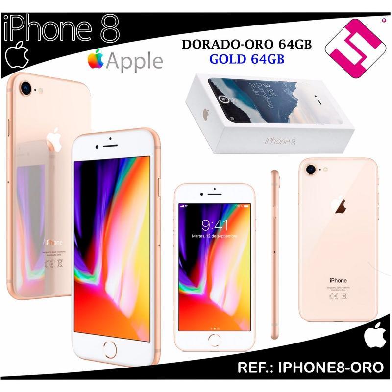 TELEFONO MOVIL SMARTPHONE APPLE IPHONE 8 LIBRE DORADO ORO 64GB 4,7 PULGADAS