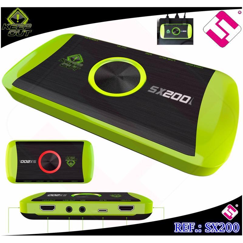 CAPTURADORA VIDEO HD GRABAR GAMING KEEP OUT XBOX ONE 360 PS2 PS3 PS4 WIIU VHS V8