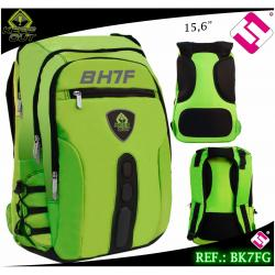 MOCHILA GAMING KEEP OUT 15,6 NYLON VERDE FLUOR BK7FG CALIDAD PROFESIONAL JUGONES