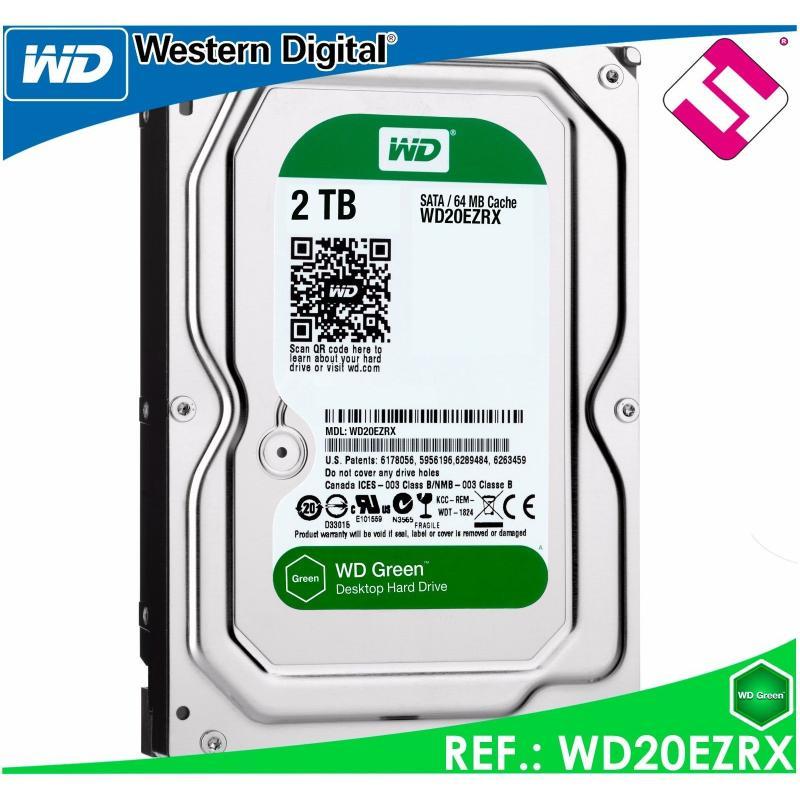 DISCO DURO 2000GB WESTERN DIGITAL GREEN 2TB 3.5 SATA WD20EZRX 00D8PB0 FACTURA SI