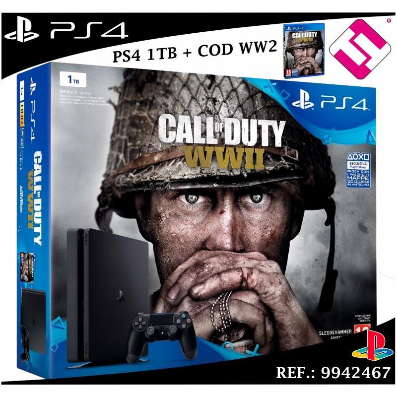 VIDEOCONSOLA SONY PS4 PLAYSTATION 4 1TB SLIM + JUEGO CALL OF DUTY WWII - WW2