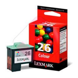 LEXMARK CARTUCHO INYECCION TINTA COLOR N26 275 P GINAS COLO