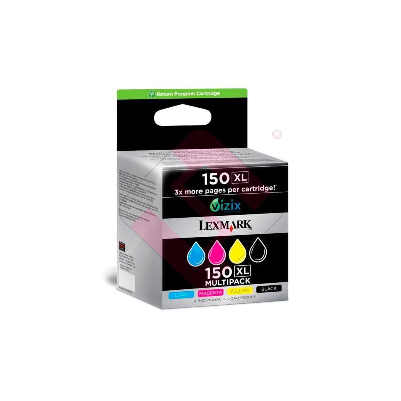 LEXMARK CARTUCHO INYECCION TINTA RAINBOW PACK Nº150XL 700 P