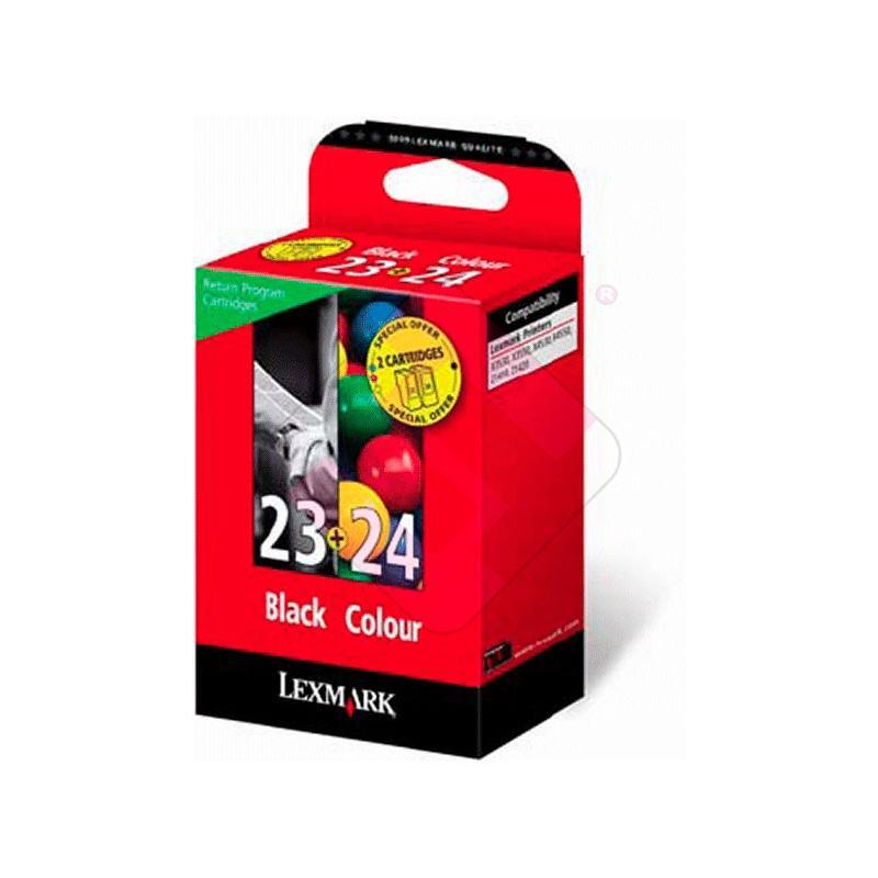 LEXMARK CARTUCHO INYECCION TINTA NEGRO 23 + 24 195 PGINAS S