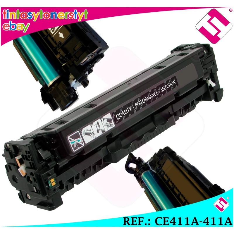 TONER CIAN CE411A 410A 305A COMPATIBLE PARA IMPRESORAS NONOEM HP NO ORIGINAL