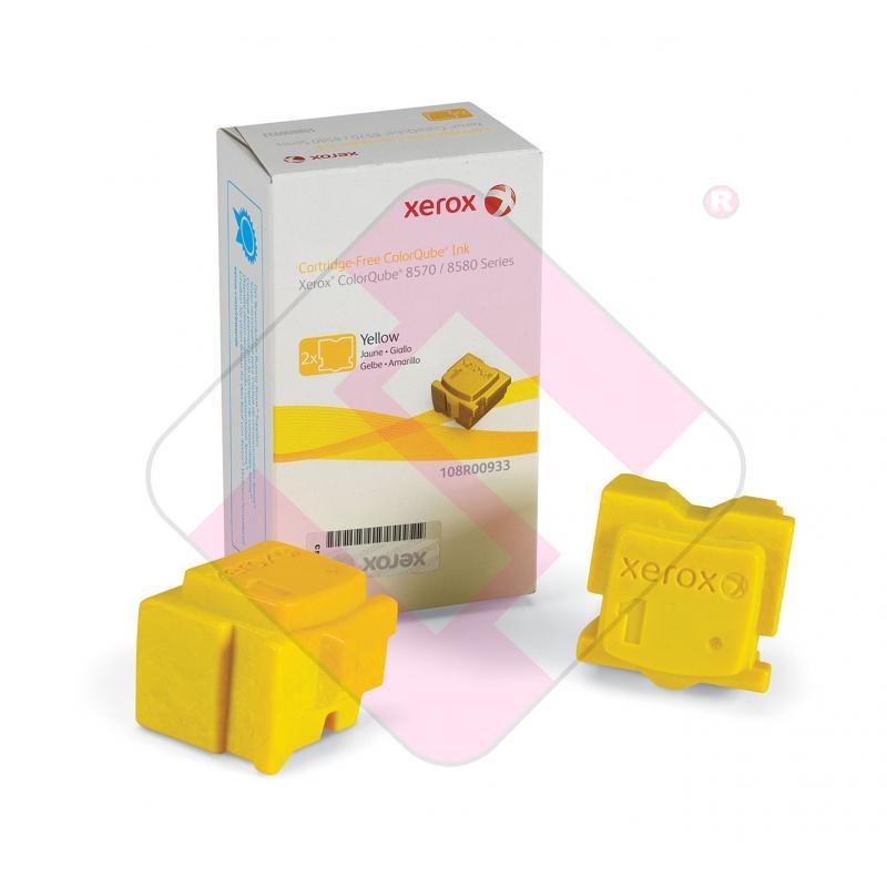 XEROX CARTUCHO TINTA SOLIDA AMARILLO 4.400K PACK 2 COLORQUBE