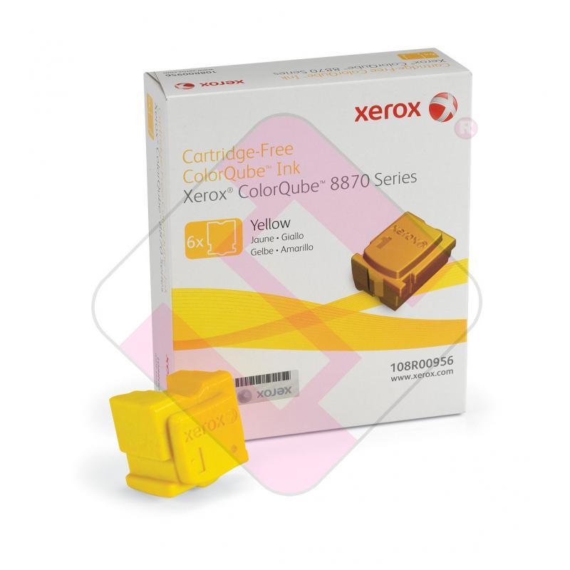 XEROX CARTUCHO TINTA SOLIDA AMARILLO 17.300 PGINAS PACK 6 C