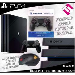 VIDEOCONSOLA SONY PS4 PLAYSTATION 4 1TB PRO 4K + MANDO ADICIONAL REGALO RATON