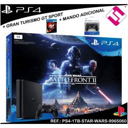 VIDEOCONSOLA PS4 PLAYSTATION 4 1TB STAR WARS BATTLEFRONT 2 + GT SPORT + MANDO