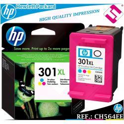 TINTA TRICOLOR 301XL ORIGINAL IMPRESORAS HP CARTUCHO HEWLETT PACKARD CH564EE