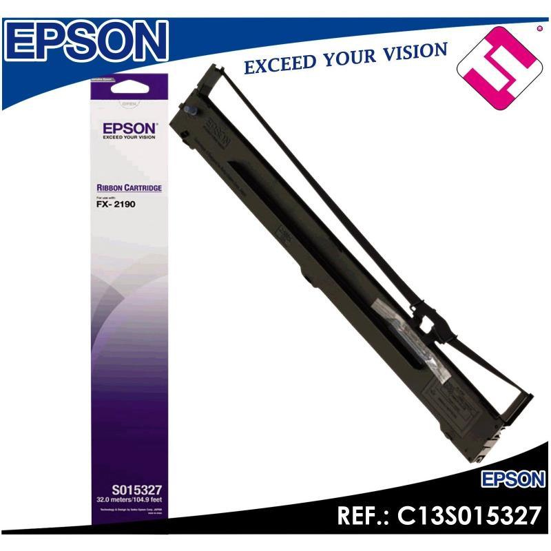 CINTA MATRICIAL NYLON EPSON FX 2190 COLOR NEGRO PARA IMPRESORA LQ2090 C13S015327