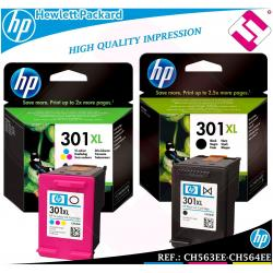 PACK TINTA NEGRA TRICOLOR 301XL ORIGINAL IMPRESORAS HP CARTUCHO HEWLETT PACKARD
