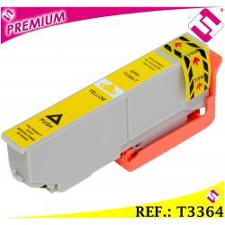 TINTA T3364 T3344 COMPATIBLE CARTUCHO AMARILLO PARA IMPRESORAS EPSON NONOEM